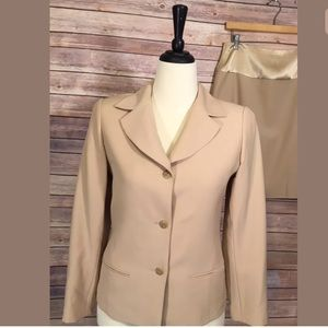 Emanuel Ungaro Skirt Suit SZ 6/40 Khaki Fitted